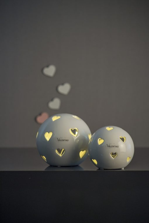 LED Morley mit Herzen glasiert